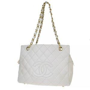 Chanel Timeless Tote Chain Handbag Caviar